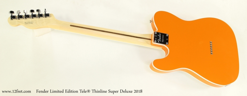 Fender Limited Edition Tele® Thinline Super Deluxe 2018  Full Rear VIew
