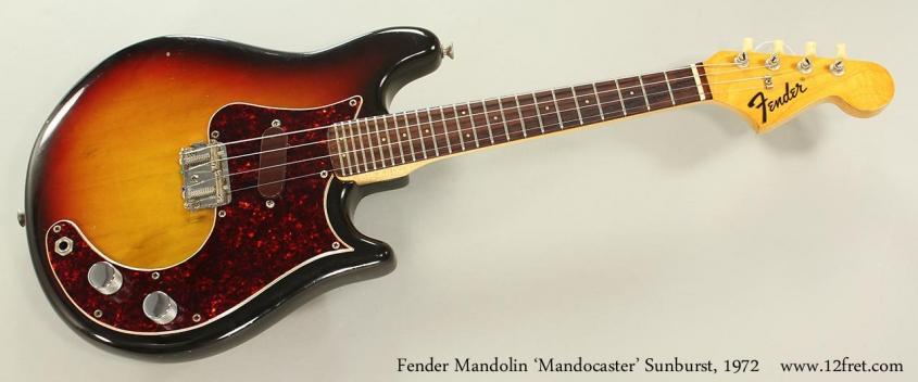 Fender 'Mandocaster' Mandolin Sunburst, 1972 Full Front View