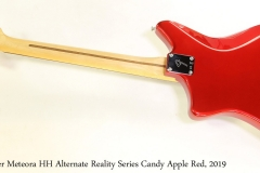Fender Meteora HH Alternate Reality Series Candy Apple Red, 2019 Full Rear View