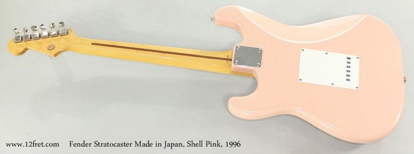 Fender Stratocaster Made in Japan, Shell Pink, 1996 Full Rear View
