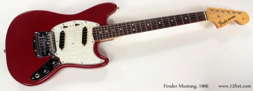 Fender Mustang Dakota Red 1966 full front view