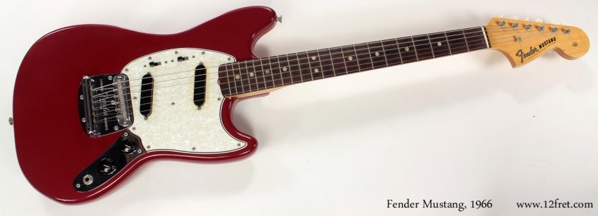 Fender Mustang Dakota Red 1966 full front view