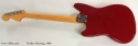 Fender Mustang Dakota Red 1966 full rear view