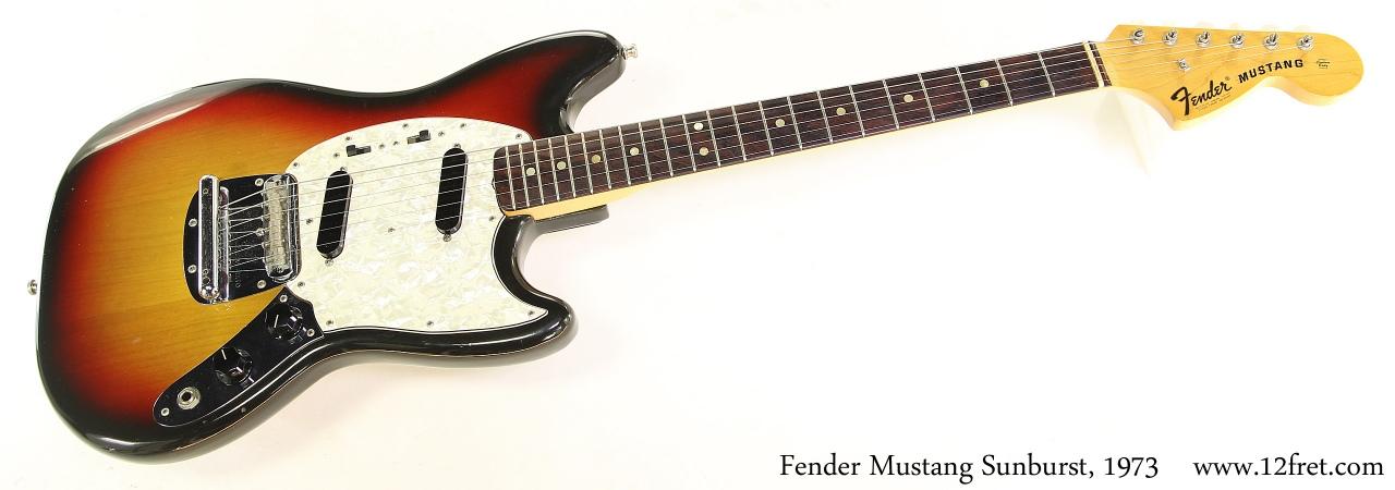 Fender Mustang Sunburst, 1973 Full Front View