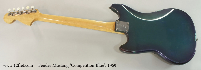 Fender Mustang 'Competition Blue', 1969 Full Rear View