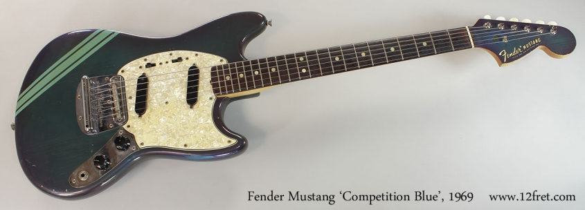 Fender Mustang 'Competition Blue', 1969 Full Front View