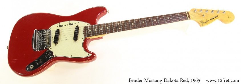 Fender Mustang Dakota Red, 1965 Full Front View