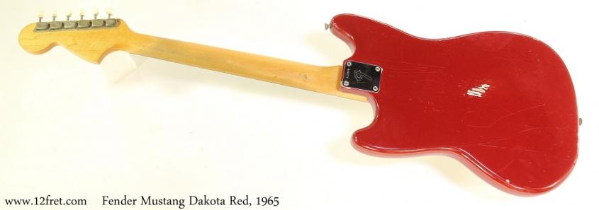 Fender Mustang Dakota Red, 1965 Full Rear View