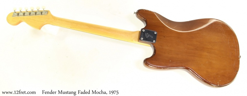 Fender Mustang Faded Mocha, 1975 Full Rear View