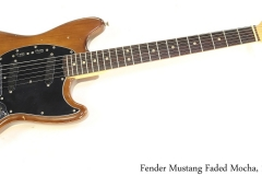 Fender Mustang Faded Mocha, 1975 Full Front View