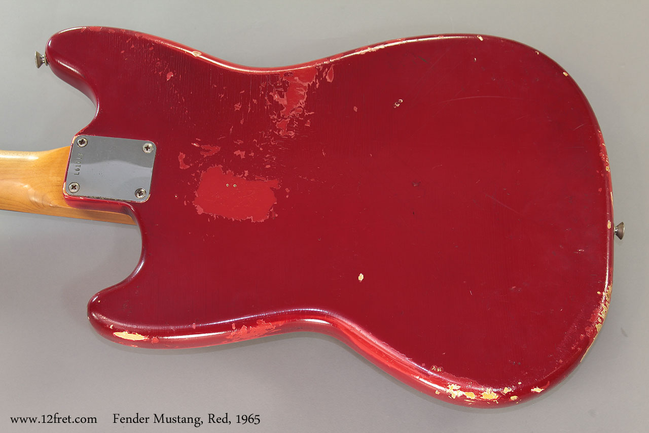 Fender Mustang, Red, 1965 Back