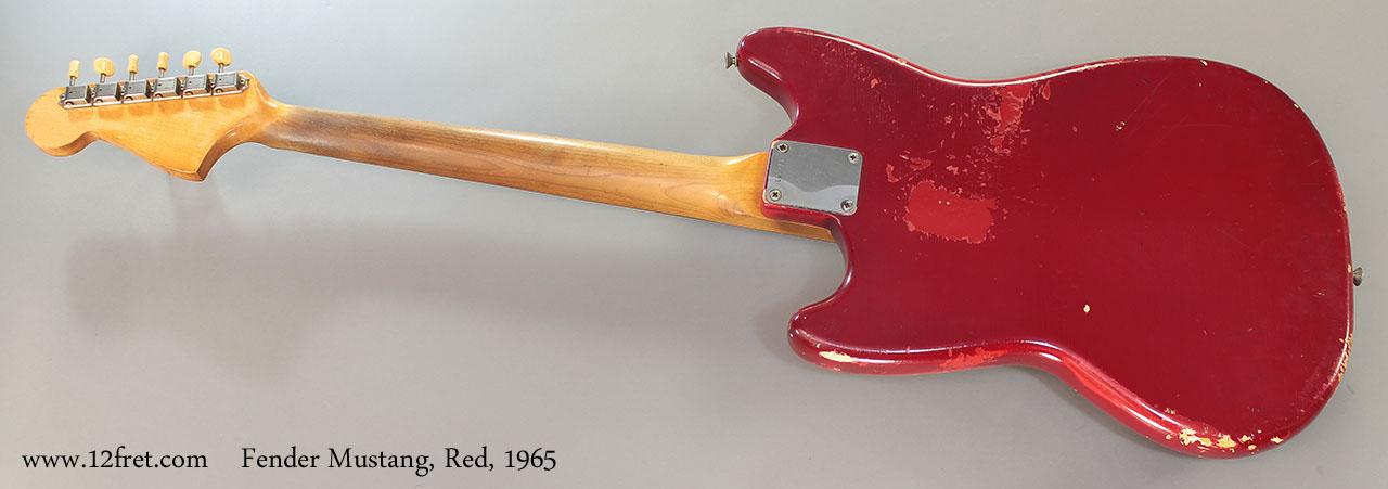 Fender Mustang, Red, 1965 Full Rear View