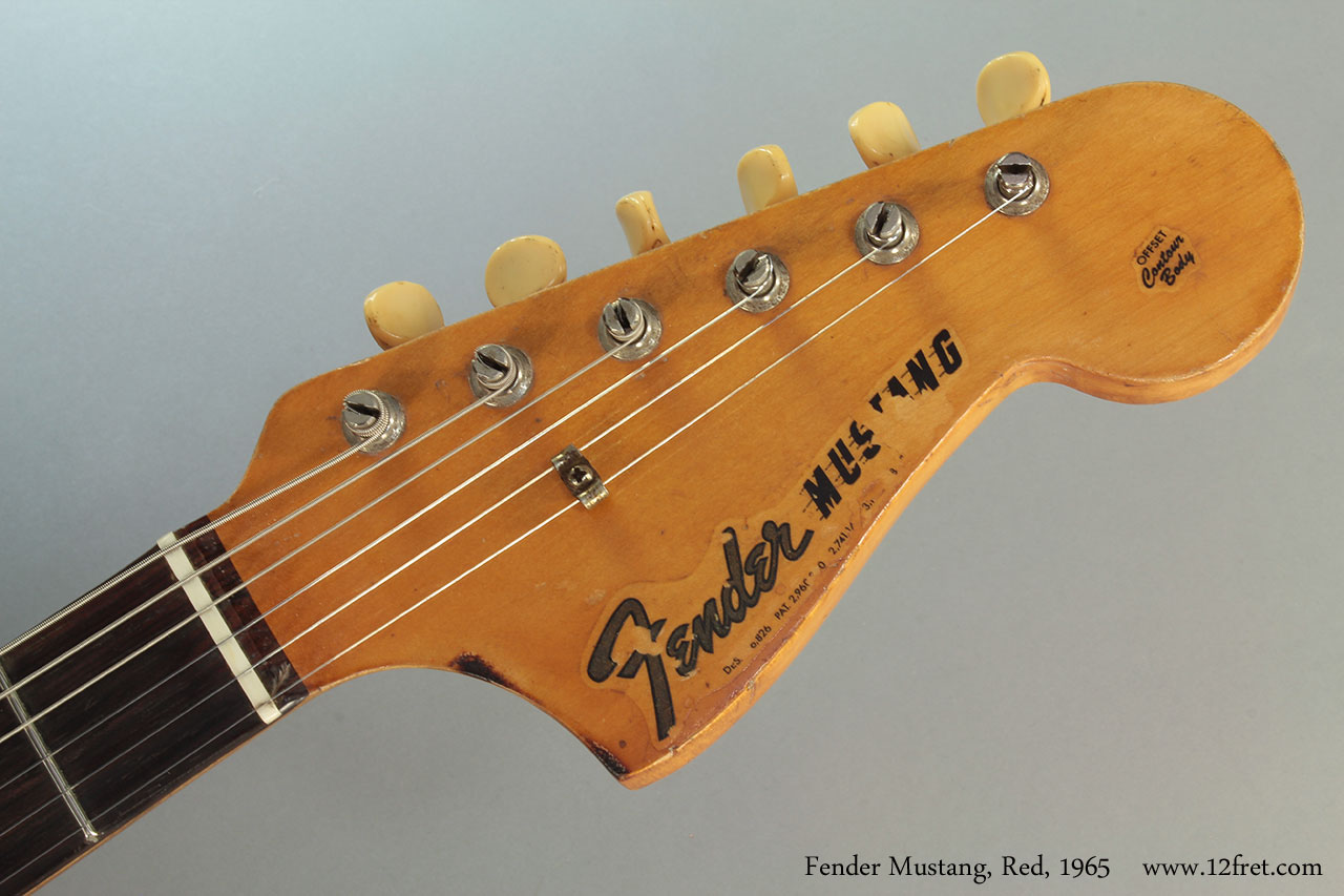 Fender Mustang, Red, 1965 Head Front