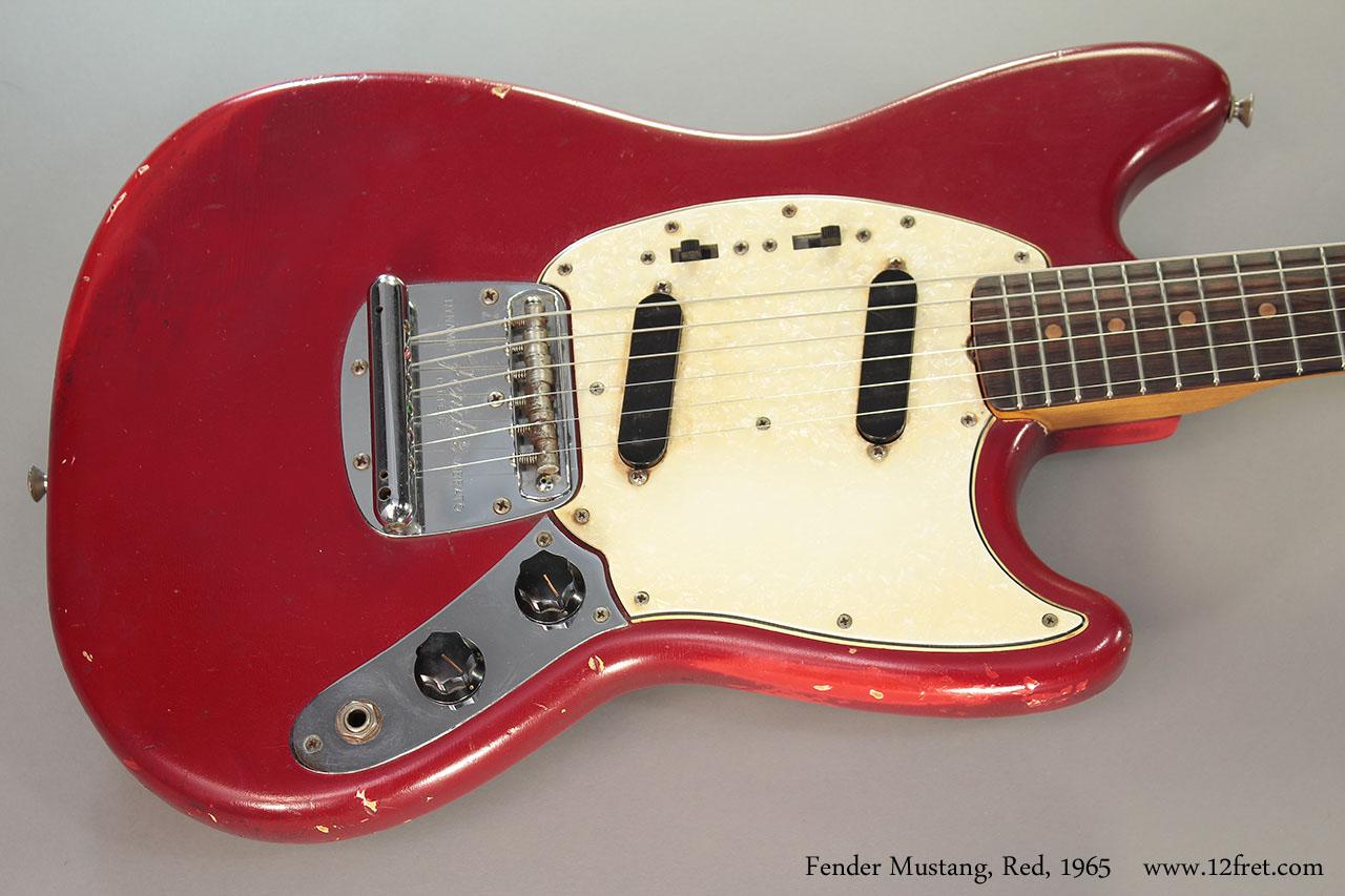 1965 fender mustang red sold. Black Bedroom Furniture Sets. Home Design Ideas
