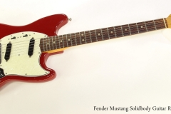 Fender Mustang Solidbody Guitar Red, 1966 Full Front View