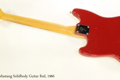 Fender Mustang Solidbody Guitar Red, 1966  Full Rear View