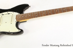 Fender Mustang Refinished Black, 1965   Full Front View