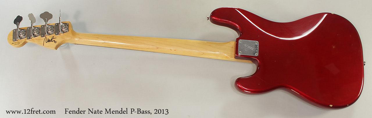 Fender Nate Mendel P-Bass, 2013 Full Rear View