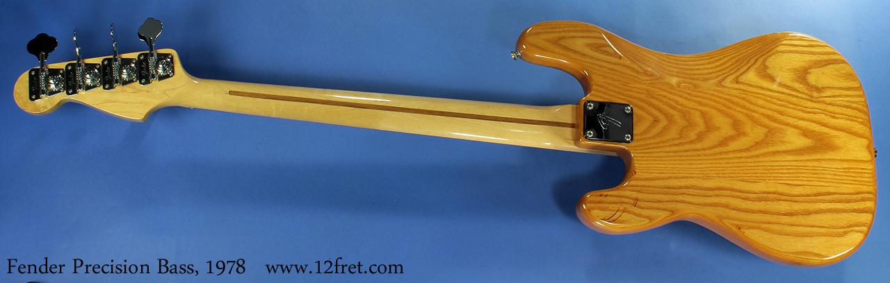 Fender Precision Bass, 1978 full rear