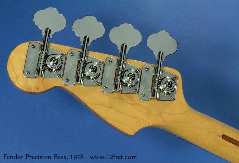 Fender Precision Bass, 1978 head rear