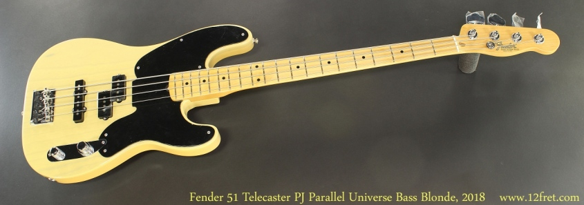 Fender 51 Telecaster PJ Parallel Universe Bass Blonde, 2018 Full Front View