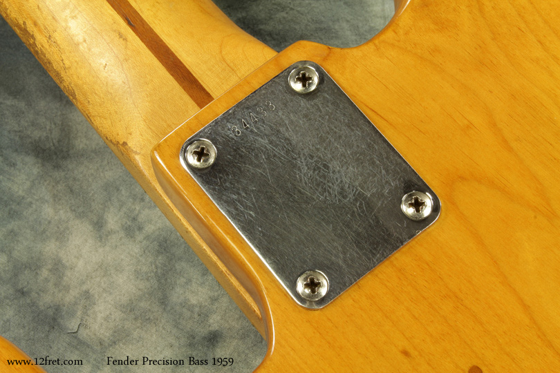 Fender Precision Bass 1959 Refinished serial plate