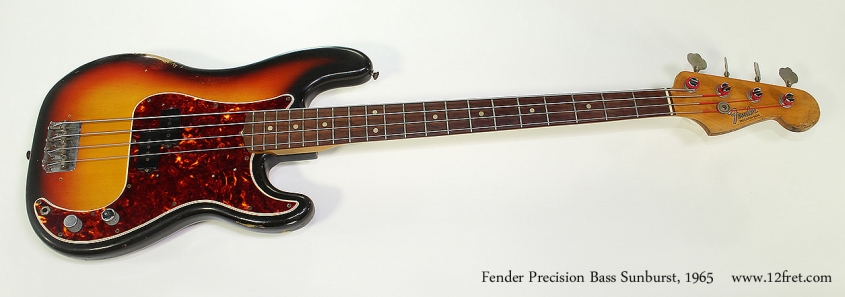 Fender Precision Bass Sunburst, 1965 Full Front View