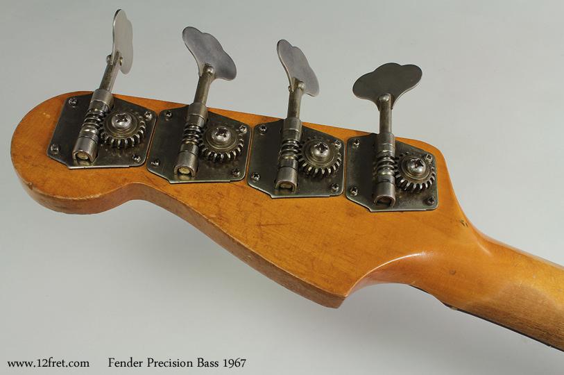 Fender Precision Bass 1967 head rear view