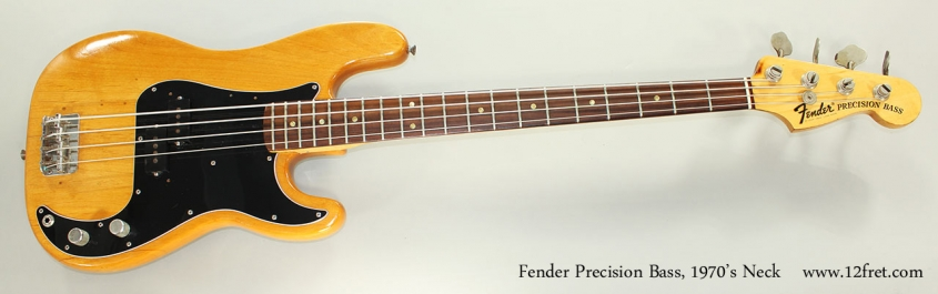 Fender Precision Bass, 1970's Neck Full Front View