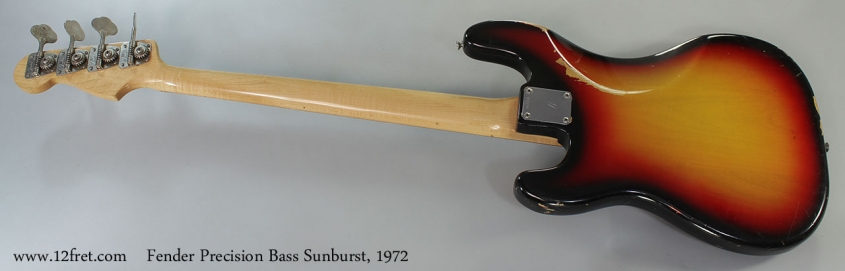 Fender Precision Bass Sunburst, 1972 Full Rear View