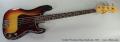 Fender Precision Bass Sunburst, 1972 Full Front View