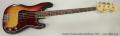 Fender Precision Bass Sunburst, 1973 Full Front View