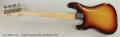 Fender Precision Bass Sunburst, 1973 Full Rear View