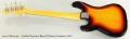 Fender Precision Bass 62 Reissue Sunburst, 2011 Full Rear View