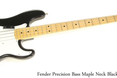 Fender Precision Bass Maple Neck Black, 1975 Full Front View