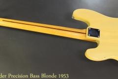 Fender Precision Bass 1953 Full Rear View