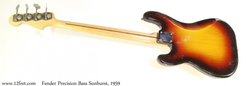 Fender Precision Bass Sunburst, 1959 Full Rear View
