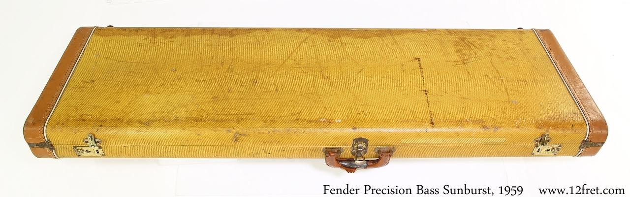 Fender Precision Bass Sunburst, 1959 Case Closed View