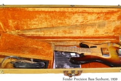 Fender Precision Bass Sunburst, 1959 Case Open View