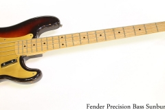 Fender Precision Bass Sunburst, 1959 Full Front View