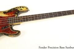 Fender Precision Bass Sunburst, 1964 Full Front View