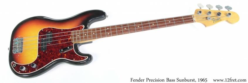 Fender Precision Bass Sunburst, 1965 Full Front View
