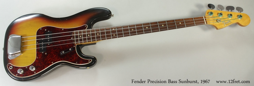 Fender Precision Bass Sunburst, 1967 Full Front View