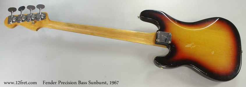 Fender Precision Bass Sunburst, 1967 Full Rear View
