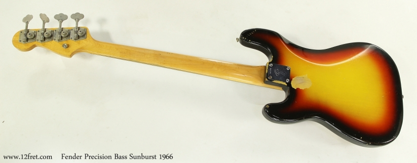 Fender Precision Bass Sunburst 1966  Full Rear View