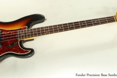 Fender Precision Bass Sunburst 1966 Full Front View
