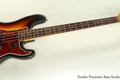 Fender Precision Bass Sunburst 1966 Full Front View