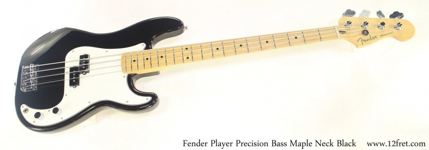 Fender Player Precision Bass Maple Neck Black Full Front View