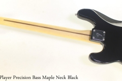 Fender Player Precision Bass Maple Neck Black Full Rear View