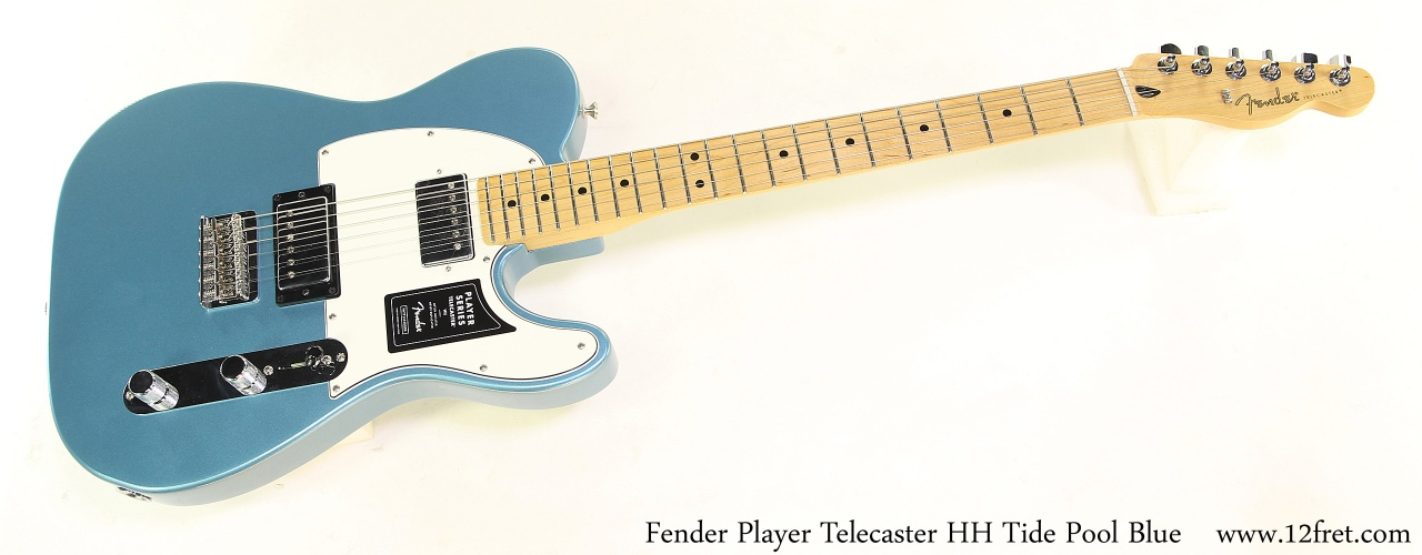 Fender Player Telecaster HH Tide Pool Blue Full Front View